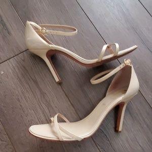"""BCBGMAXAZRIZA Cream Patent Leather 4"""" Heels"""
